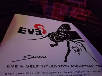 Eve 6 poster signed by Somme and Party Nails by ATwistintheMyth