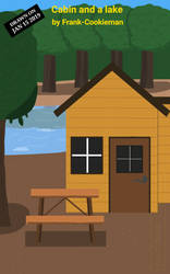 Cabin and a lake by Frank-Cookieman