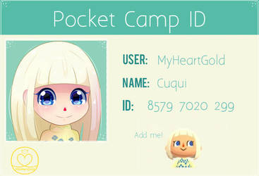 Pocket Camp ID by MyHeartGold