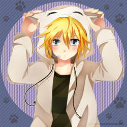 Len is a neko by SquChan