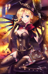 OVERWATCH - Witch Mercy .NSFW optional. by SquChan