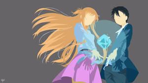 Asuna Kirito Minimalist 1st by xryns01