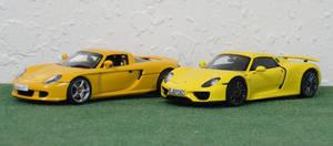 Carrera GT and 918 Spyder in 1/43 by Venom800TT