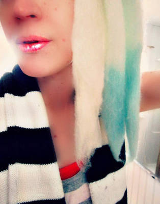 Colortest (model pic) Wool Dreads WIP by ShayArtz