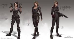 Nod femaleofficers1 by MichalKus