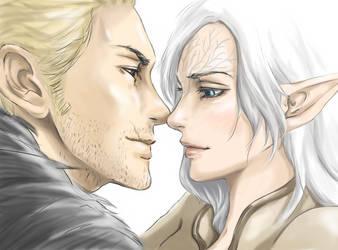 Dragon Age Inquisiton: Staring contest by EseEbi