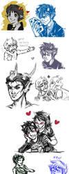 Tumblr Sketchdump by Arricia-sama