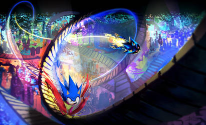 The Blue Blur's 25th by tripplejaz