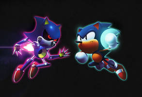 Sonic vs Metal by tripplejaz