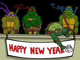 TMNT 'Happy 2011' by Michelleangela