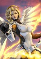 Overwatch Mercy Fanart by Zamberz