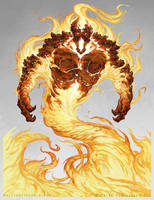 Fire Elemental - Pathfinder by Nigreda
