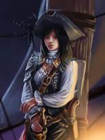 Dragonwoman Mylwaye fan-art-jam by RenEscar