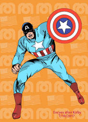 Kirby Mego Captain America by Encyes