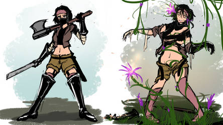 Mind control Flower Sketch by Lewd-Zko