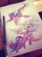 Drawing Till Twilight by My-Magic-Dream