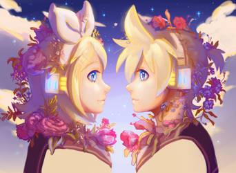 Kagamine Mirrors by My-Magic-Dream