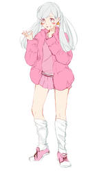 Namless Pastel Girl by My-Magic-Dream
