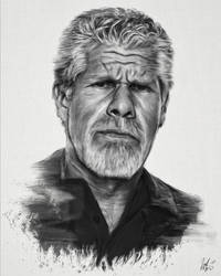 Clay Morrow Portrait by LiamGolden