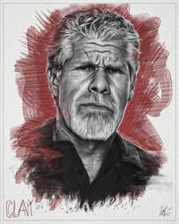 Clay Morrow Portrait -SOA 01 with Colour by LiamGolden