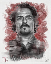 Tig Trager Portrait -SOA 02 with Colour by LiamGolden