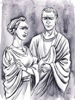 Augustus and Julia the Elder by cabepfir