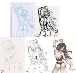 Wonder Woman Process by Dawn-McTeigue
