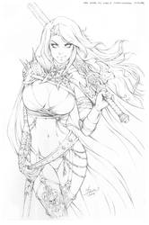 Pencils of Lady Death Phoenix Comic Con 2014 Cover by Dawn-McTeigue