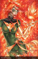 Jean Grey Phoenix Blank by Dawn-McTeigue