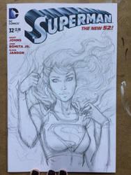 Supergirl sketch WIP by Dawn-McTeigue