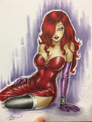 Jessica Rabbit Commission by Dawn-McTeigue
