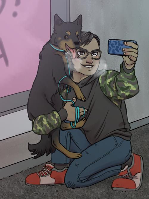 Gus+dog by Kladdpapper