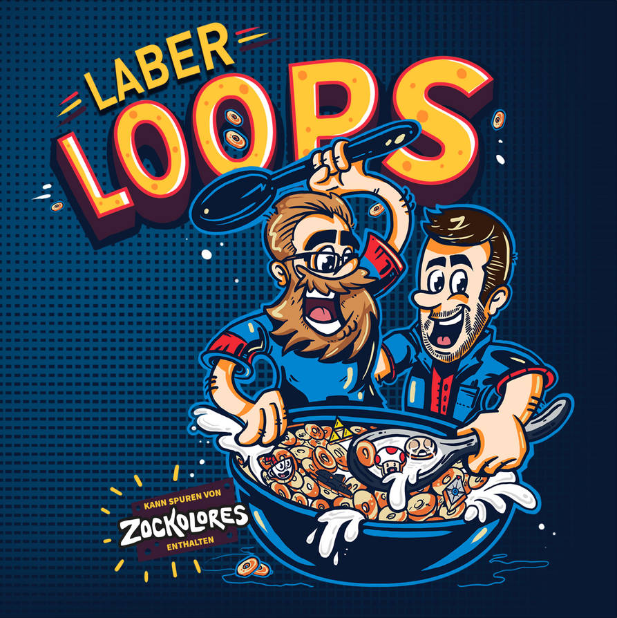 Laberloops Podcast Cover Design by fERs