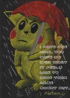Pikachu In The Rain by marcony