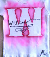 Pink W T-shirt for Willow by marcony