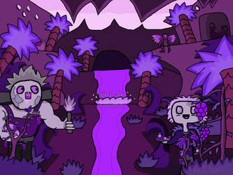 Purple pink theme river by FrostSnail