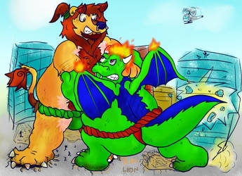 sumo battle by thelionjack