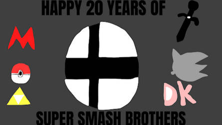 Happy 20 Years Of Super Smash Brothers by AlmirVelovic