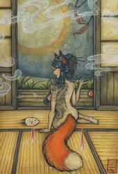 The pipe fox by Lilith-Samsa
