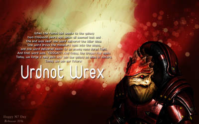 Urdnot Wrex: One Word by Belanna42