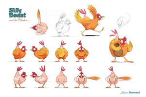 CHICKEN model sheet by aniBoom-Skylar