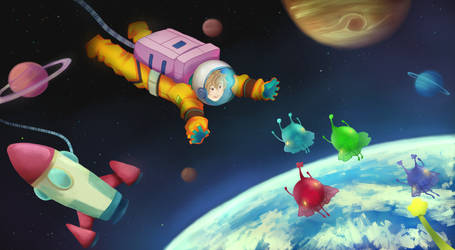 Swimming in Space by perria