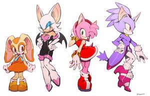 Sonic girls by ingoguma