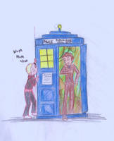 Munching on the TARDIS by roo-111