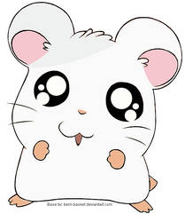 Hana The White Snow Moon Hamster by Noa-live-heart