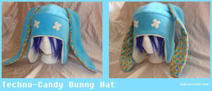 Techno-Candy Bunny Hat by Feicoon