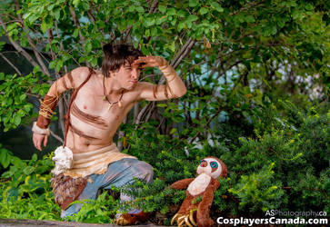 Guy and Belt Go Hunting - The Croods Cosplay by kh2kid