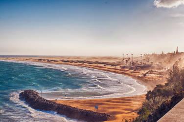 Sand Storm in Gran Canaria by baarisa