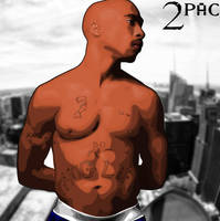 2Pac Vector by AHDesigner