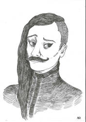 Selfportrait - moustache by nebozka